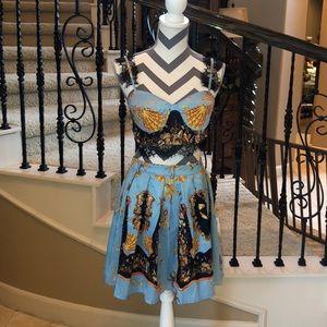 Bralette and Skirt Set